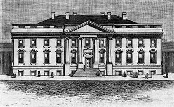 The Whitehouse in 1800